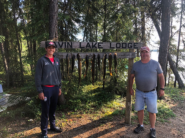 Davin Lake Fishing Lodge-Uncle and Nephew