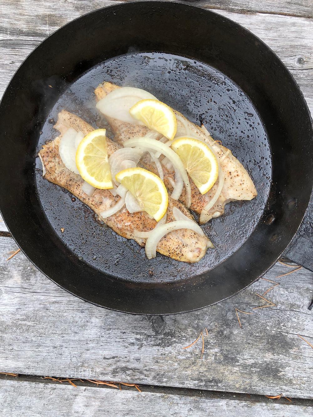 Pan fry trout