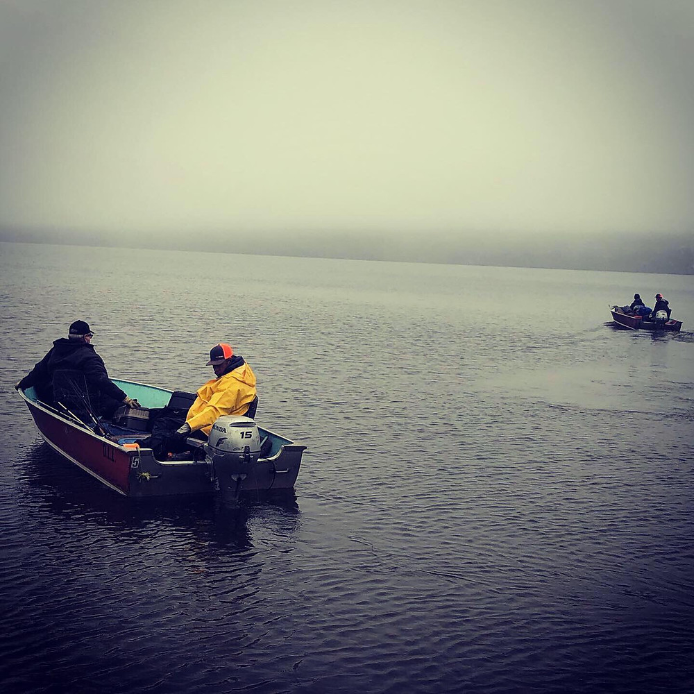 Wathaman crew setting off