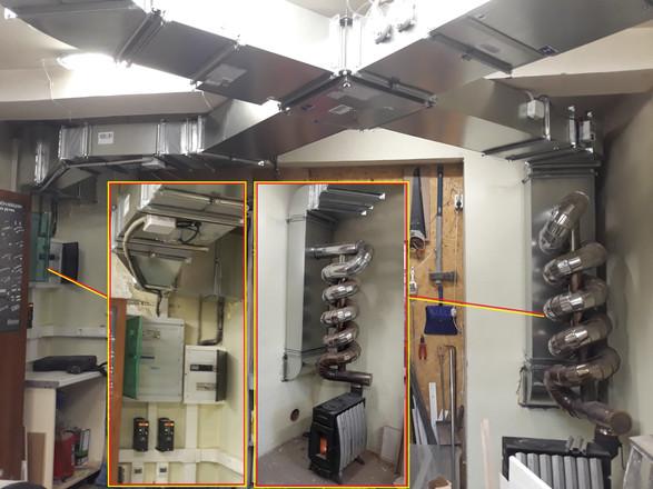 система приточно-вытяжной вентиляции с рекуперацией воздуха
