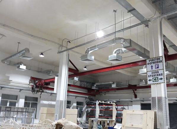 вентиляция цеха производства автокемперов в Коломне