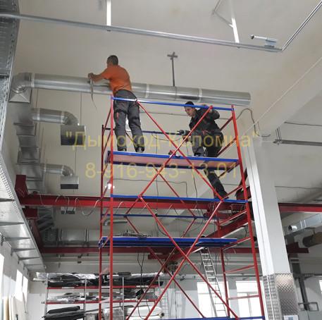 монтаж вентиляции производственного цеха