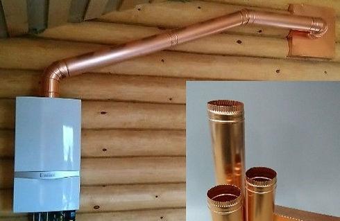 изготовление медных воздуховодов, дымоходов, водостоков