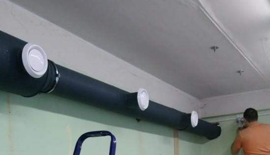 вентиляция рабочих помещений рекламной фирмы в Коломне