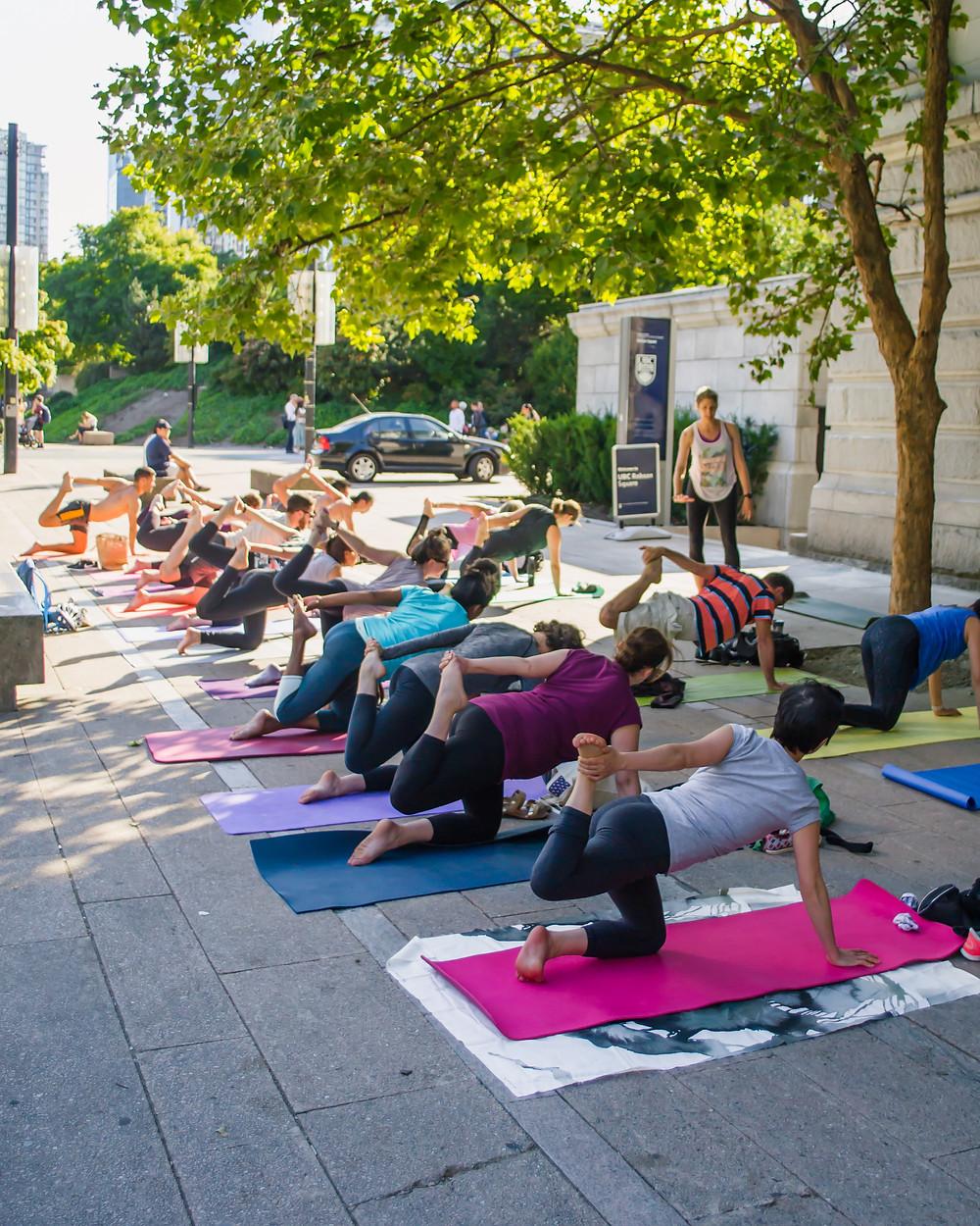 Yoga Downtown on Robson Street. Thanks VIVA Vancouver!