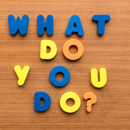 What Do You Do? How To Perfect Your Pitch