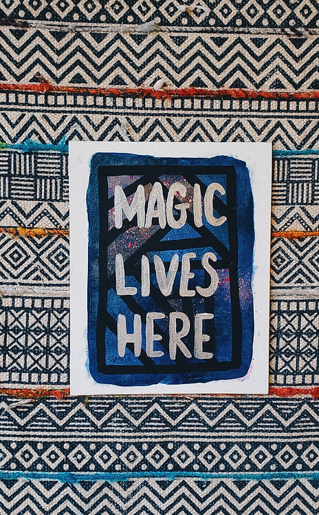Magic Lives Here Canvas