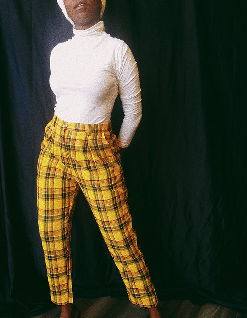 Yellow Plaid Pants