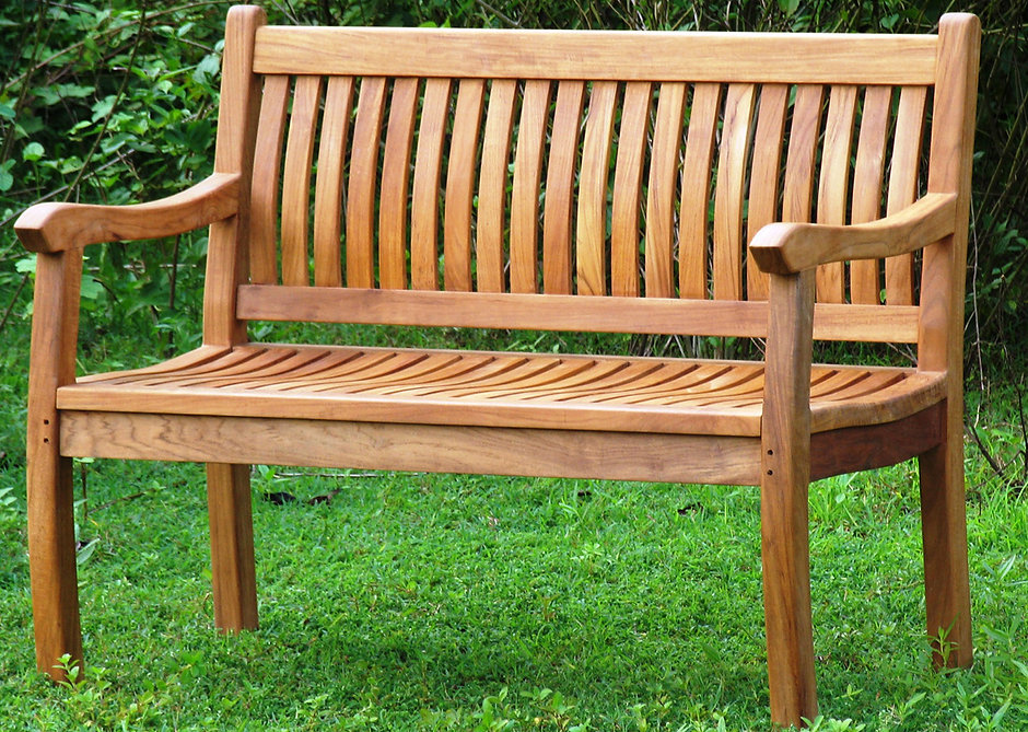 Short Wood Bench