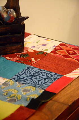 Checked Patchwork Table Runner