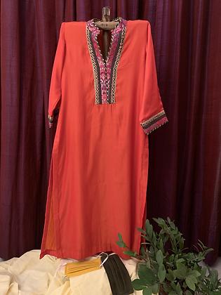 Orange Mughlai Kurta