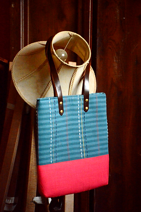 Blue & Red Tote Bag