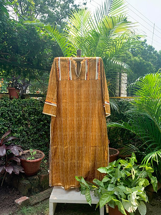 Walnut and Mustard Kurta