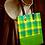 Thumbnail: Green Checked Tote Bag