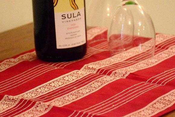 Wine Silk Table Runner