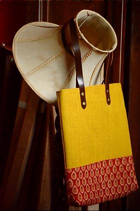 Mustard & Maroon Tote Bag