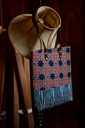 Ajrak Printed Tote Bag