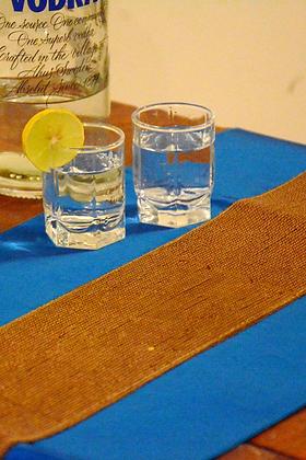 Gold & Blue Silk Table Runner