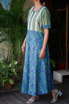 Fairy Blue & Green Dress