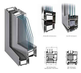 Aluprof 104 passive window and door syst