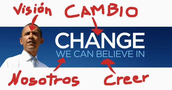 Slogan OBAMA 2008 CHANGE USA Election