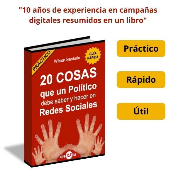 ebook 20 cosas que un político debe hacer en Redes Sociales