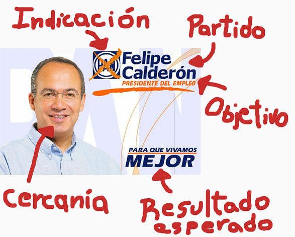 Eslogan Político de Felipe Calderón, México