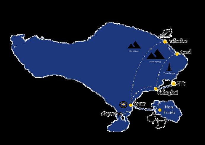 Diving Tour map