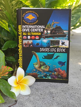 log book Bali Breizh Divers