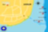 Carte des sites de plongée Sanur