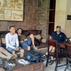 Meeting with our Course director and his students in our dive center in Sanur