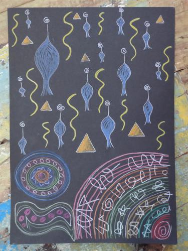 Lichtcodes und meditative Zeichnung, gechannelt im Sommer 2018 in England