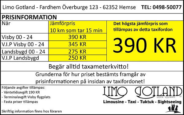 Taxi, Visby, Gotland