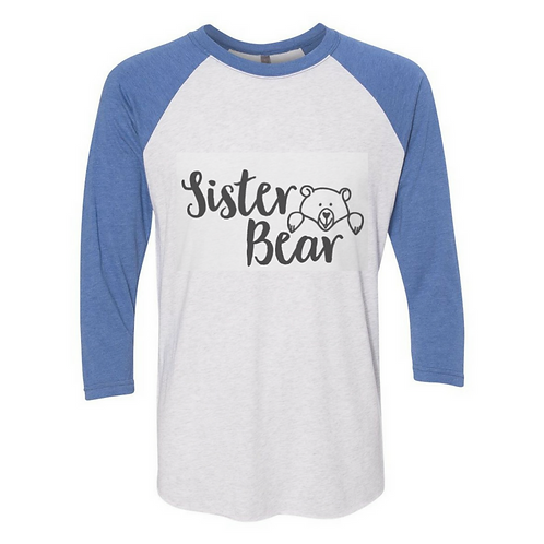 Youth Raglan with Bear Print