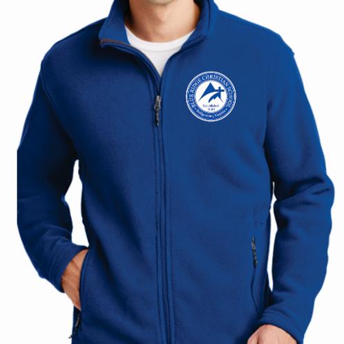 Plus Size Embroidered Full-Zip Polar Fleece