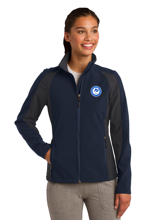 Women's Sport Tek Colorblock Soft Shell Jacket