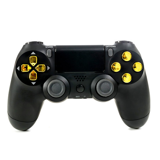 Crazy Controllerz Black and Gold Chrome Modded Controller