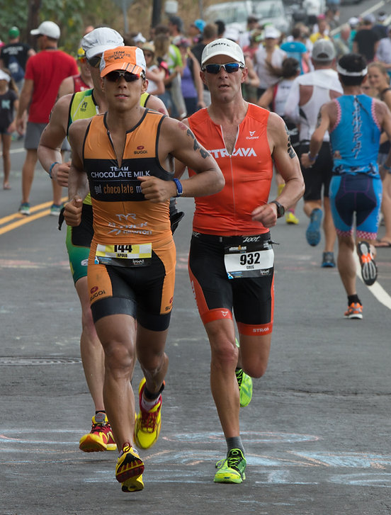 During Race - Olympic ledgend Apolo Ono and Chocolate Milk take on Ironman World Championships in Kona, HI