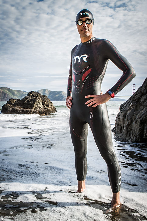 Be strong like Andy Potts in his TYR wetsuit