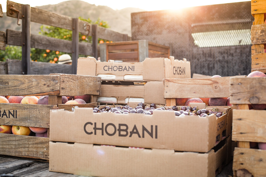 Chobani uses fresh fruit in all of the yogurts!