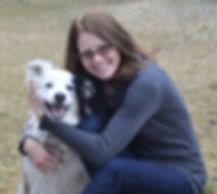 Tania Florance, MA, with a dog