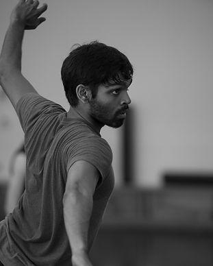 Rehearsal photo of Sanjay Savermuttu, photo by Sam English