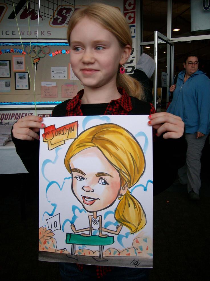 Caricaturist Color Drawings