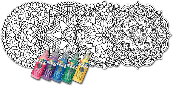 Mandala Art Window Stickers Paint Kits  [Minimum Order 48]