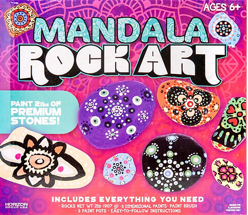 Mandala Rocks Paint Your Own Kit [Minimum Order 48]