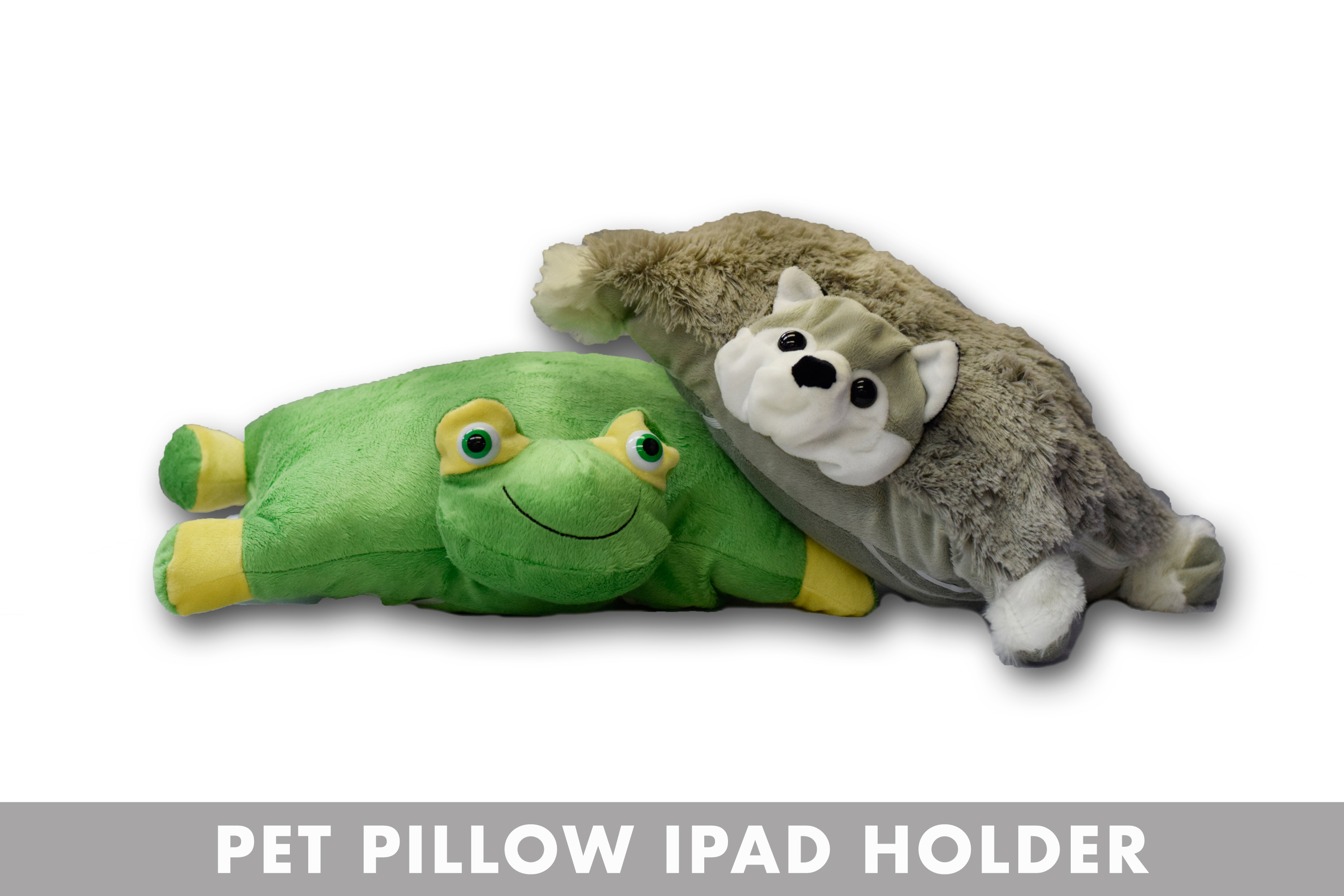 FROG AND WOLF PET PILLOW