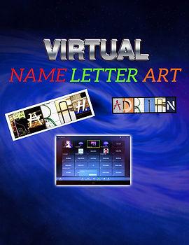 Name Letter Art - Virtual