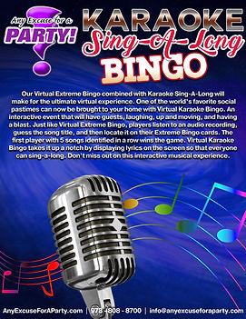 Karaoke Sing-A-Long Bingo