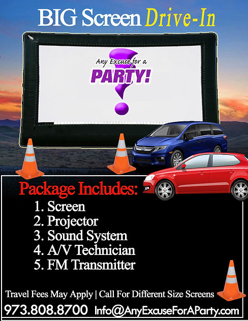 Drive-in Movie Night without price copy.
