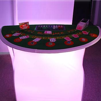 Light-Up Casino Tables